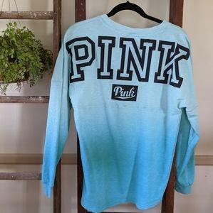 PINK Sz S dual tone sweatshirt pullover